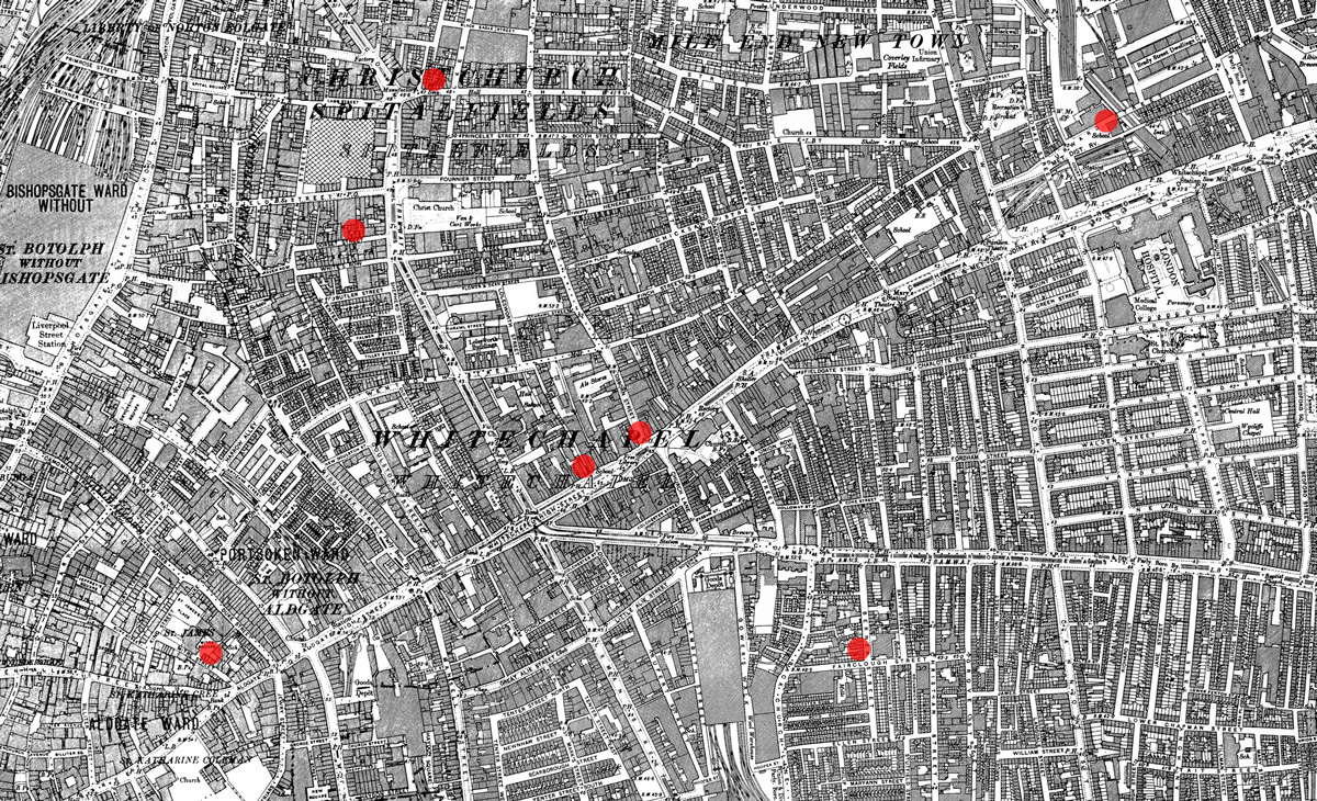 the whitechapel murders of 1888 If we take into account the torso murders of 1873-4, 1887-8, and the more famous whitechapel murders of 1888, it seems apparent that there were at least three serial killers operating in london in the later nineteenth century who dismembered working-class female victims.