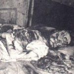 Crime scene photo of Mary Jane Kelly