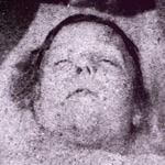 "Mortuary photo of Mary Ann ""Polly"" Nichols"