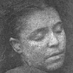 Mortuary photo of Frances Coles