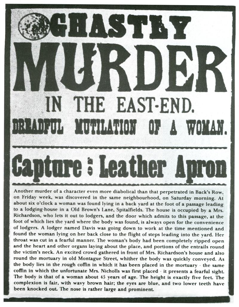 Annie Chapman Ghastly Murder Poster