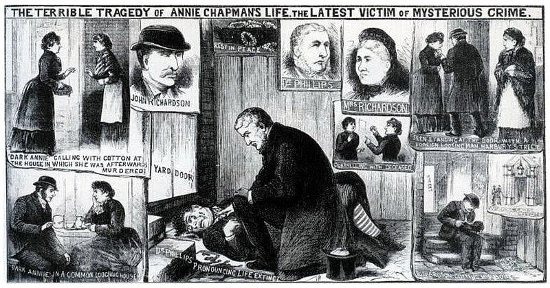 Dr Philips Examining the Body of Annie Chapman