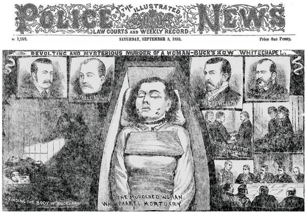 Mary Ann Nichols - Illustrated Police News, Sept 8, 1888