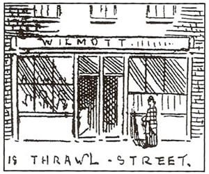 Wilmott's Lodging House on Thrawl Street
