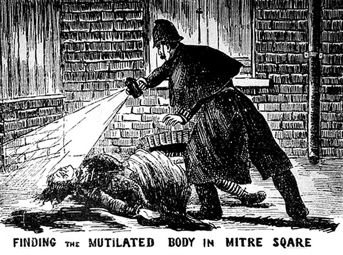 PC Watkins Discovers Catherine Eddowes in Mitre Square