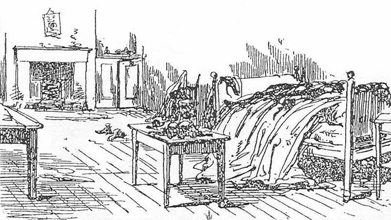 Sketch of Mary Kelly's room