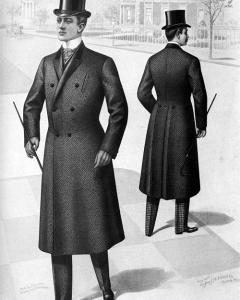 Victoria Era Men's Frock Overcoat
