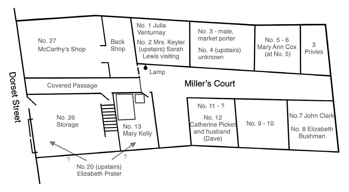 Map of Miller's Court