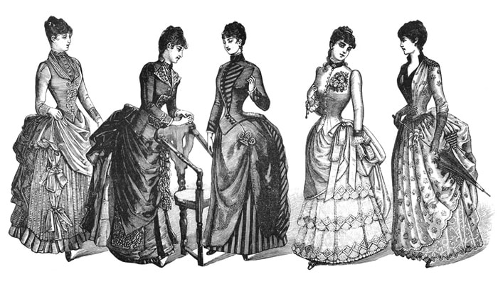 What did people wear 1800's?