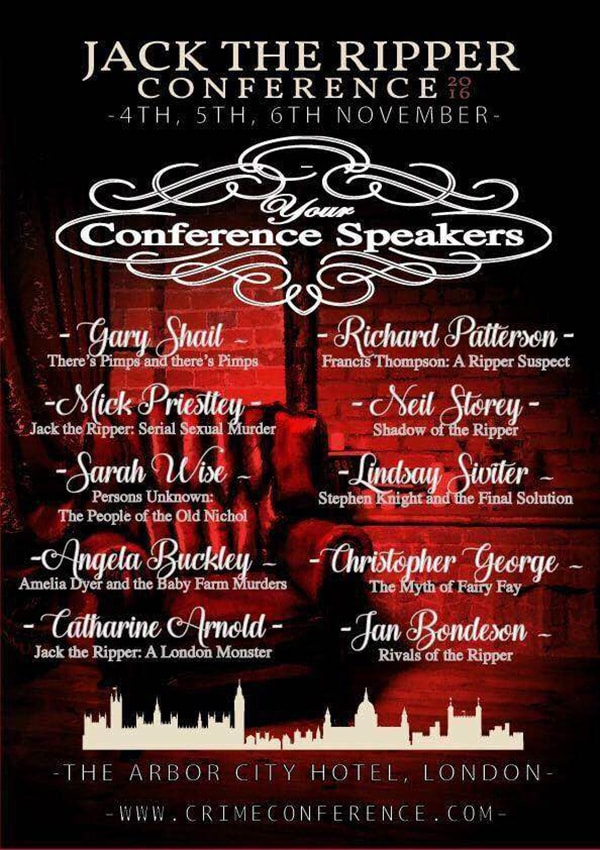 Jack the Ripper Conference Speakers
